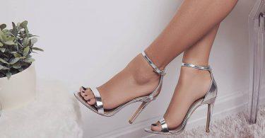 sandale metalice cu toc